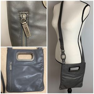 Hobo International Gray Leather Crossbody Bag